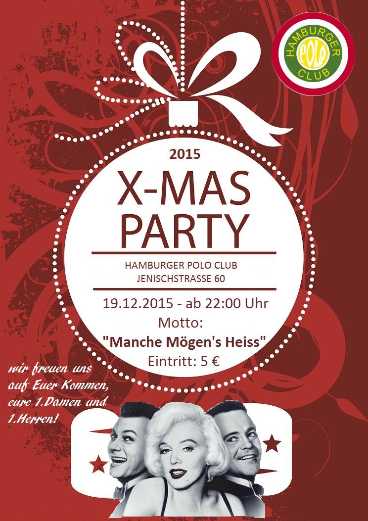 Weihnachtsfeier Plakat.Weihnachtsfeier Polo Plakat Hamburger Polo Club